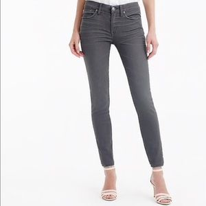 J.Crew 8 inch toothpick jean in grey